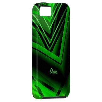 Caja verde del iphone 5 de Doris Funda Para iPhone SE/5/5s