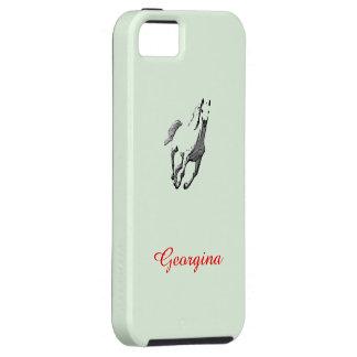 Caja verde del iPhone 5 de Georgina con el caballo iPhone 5 Fundas