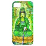 Caja verde del iPhone 5 de Kuan Yin de la diosa iPhone 5 Funda
