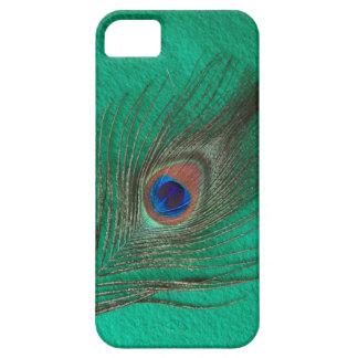 Caja verde del iPhone 5 de la pluma del pavo real iPhone 5 Case-Mate Protector