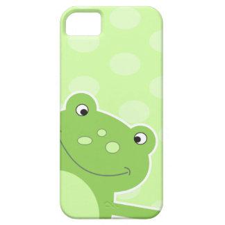 Caja verde del iPhone 5 de la rana del salto iPhone 5 Funda