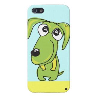 Caja verde del iPhone 5 de la sonrisa del perro iPhone 5 Coberturas
