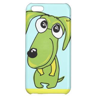 Caja verde del iPhone 5 de la sonrisa del perro