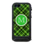 Caja verde del iPhone 5 de la tela escocesa del Funda Para iPhone 5 Incipio ATLAS ID