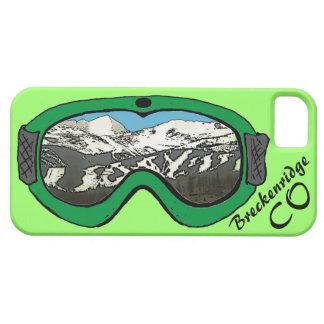 Caja verde del iphone 5 de las gafas de iPhone 5 funda