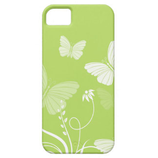 Caja verde del iPhone 5 de las mariposas iPhone 5 Case-Mate Carcasas