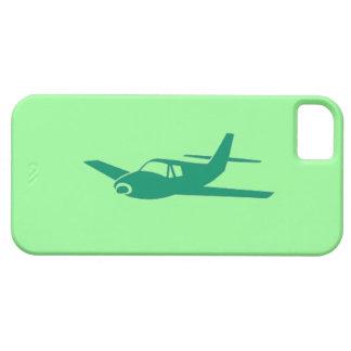 Caja verde del iphone 5 del amor del aeroplano del funda para iPhone 5 barely there