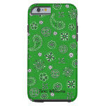 Caja verde del iPhone 5 del pañuelo