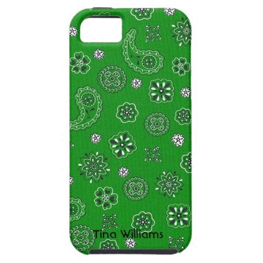 Caja verde del iPhone 5 del pañuelo iPhone 5 Protector