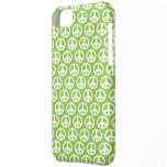 Caja verde del iPhone 5 del símbolo de paz