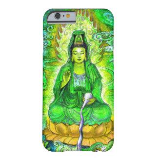 Caja verde del iPhone 6 de Kuan Yin de la diosa Funda De iPhone 6 Barely There