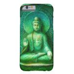 Caja verde del iPhone 6 de la meditación del zen Funda De iPhone 6 Barely There