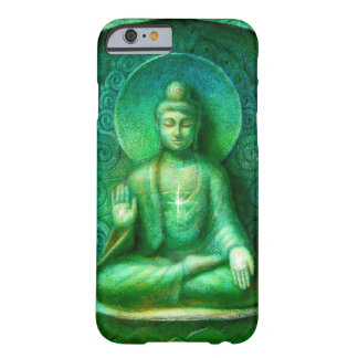 Caja verde del iPhone 6 de la meditación del zen Funda De iPhone 6 Barely There