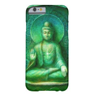 Caja verde del iPhone 6 de la meditación del zen Funda Barely There iPhone 6