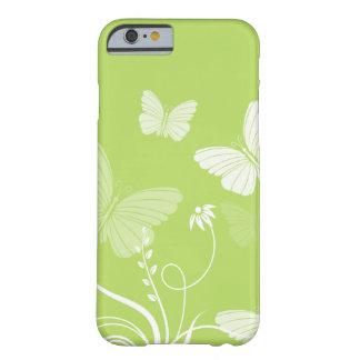 Caja verde del iPhone 6 de las mariposas Funda De iPhone 6 Barely There