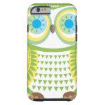Caja verde del iPhone 6 del búho