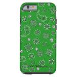 Caja verde del iPhone 6 del pañuelo