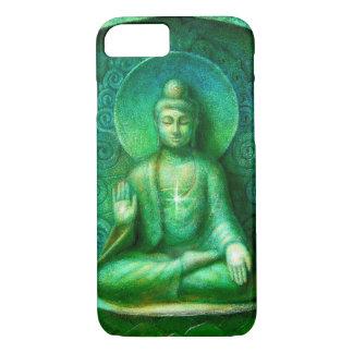 Caja verde del iPhone 7 de la meditación del zen Funda iPhone 7