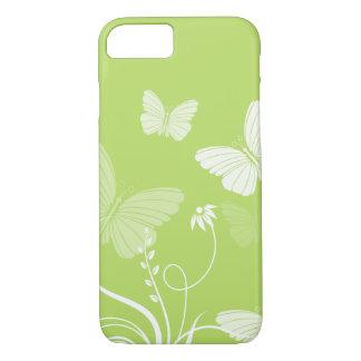 Caja verde del iPhone 7 de las mariposas Funda iPhone 7