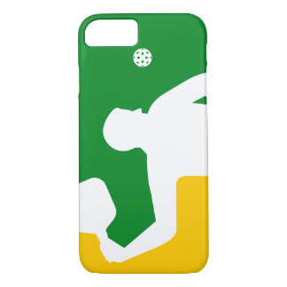 Caja (verde) del iPhone 7 de Pickleball de la Funda iPhone 7