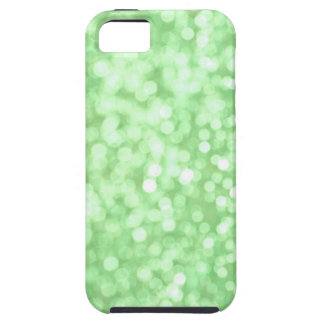 Caja verde del iPhone de la chispa de Bokeh iPhone 5 Case-Mate Fundas
