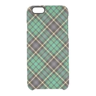 Caja verde del iPhone de la tela escocesa Funda Clear Para iPhone 6/6S