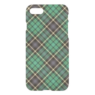 Caja verde del iPhone de la tela escocesa Funda Para iPhone 7