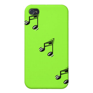 Caja verde del iPhone de las notas musicales iPhone 4 Coberturas