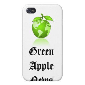 Caja verde del iphone de las noticias de Apple iPhone 4 Carcasas