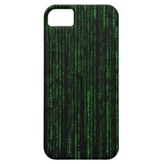 Caja verde del iPhone del código binario de la Funda Para iPhone 5 Barely There