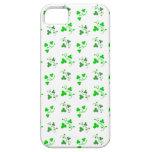 Caja verde del iPhone del modelo de los tréboles iPhone 5 Case-Mate Coberturas