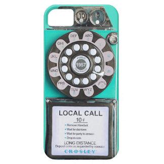 caja verde del iphone del teléfono público del iPhone 5 protector