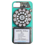 caja verde del iphone del teléfono público del vin iPhone 5 protector