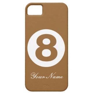 Caja verde del número ocho de Brown Funda Para iPhone 5 Barely There