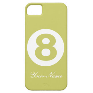 Caja verde del número ocho del aguacate iPhone 5 funda