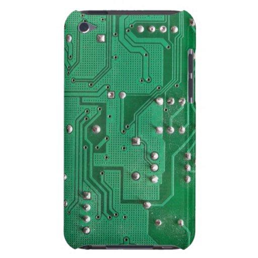 Caja verde del tacto de iPod de la textura 1 de la iPod Touch Protectores