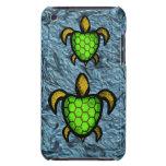Caja verde del tacto de iPod de la tortuga de Shel Barely There iPod Funda
