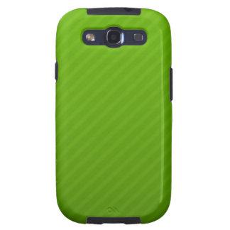 Caja verde del teléfono de las rayas galaxy s3 cobertura