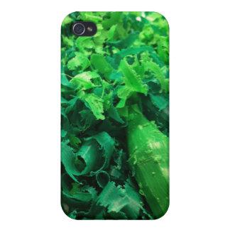 Caja verde del teléfono de las virutas del creyón iPhone 4 funda