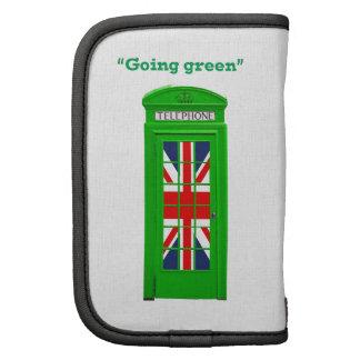 """Caja """"verde"""" del teléfono de Londres que va Planificadores"""