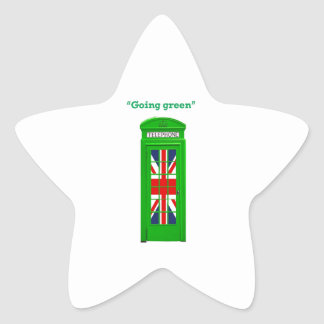 """Caja """"verde"""" del teléfono de Londres que va Colcomanias Forma De Estrella Personalizadas"""
