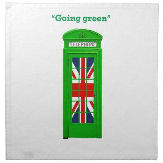 "Caja ""verde"" del teléfono de Londres que va Servilletas"