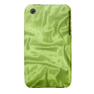 Caja verde del teléfono del Satén-iPhone 3g iPhone 3 Carcasa