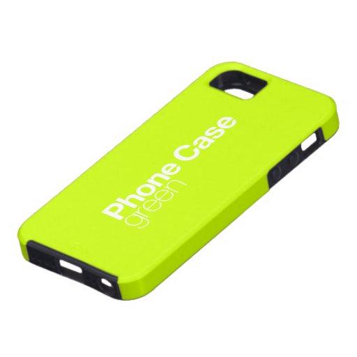 Caja verde del teléfono para el iPhone 5 iPhone 5 Case-Mate Protector