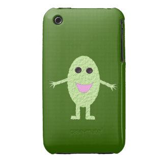 Caja verde feliz del iPhone 3 de la uva Funda Bareyly There Para iPhone 3 De Case-Mate