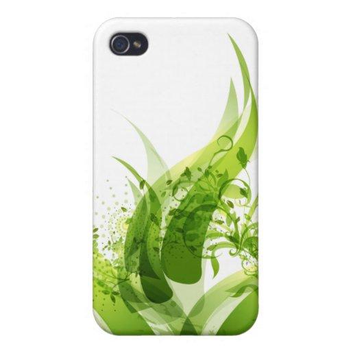 Caja verde futurista de IPhone iPhone 4 Carcasa
