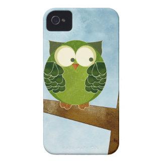 Caja verde linda de la casamata del búho Case-Mate iPhone 4 carcasa