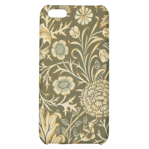 Caja verde oliva floral iPhone4 de la mota de Pais