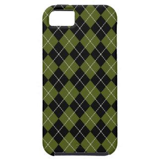 Caja verde oliva intrépida del iPhone 5 de Argyle iPhone 5 Carcasas