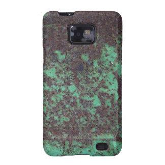 Caja verde oxidada de la galaxia S de Samsung de l Samsung Galaxy S2 Funda